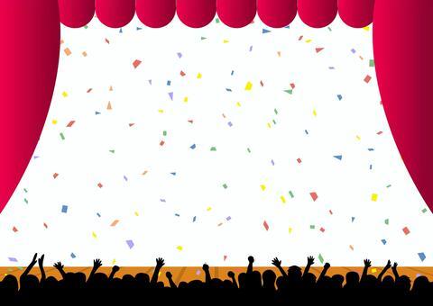 紙吹雪 観客 舞台 ステージ