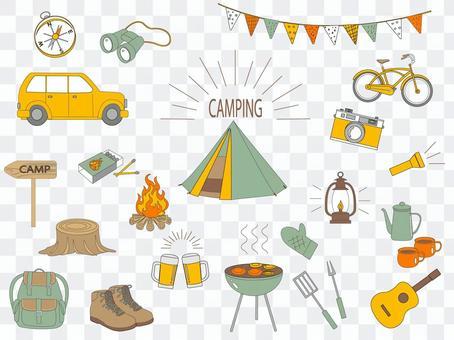 營地圖標集