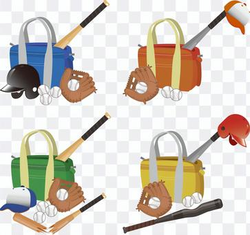 バッグと野球道具セット
