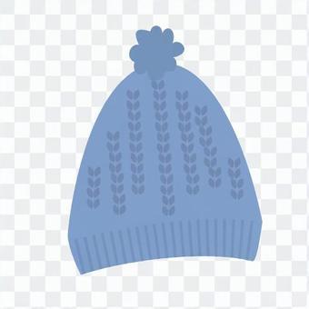 針織帽(藍色)
