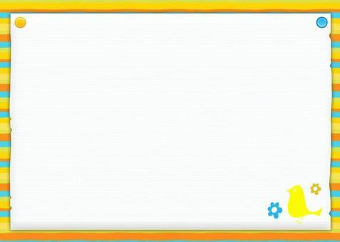 黃色的鳥框架