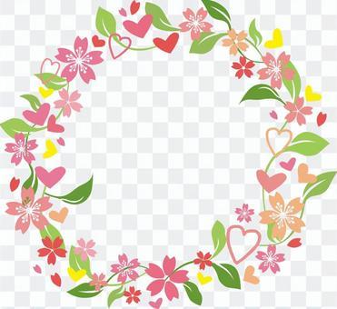 心和櫻花花冠