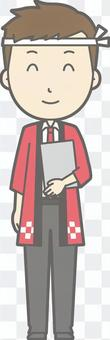 男性嬉皮士 - 檔Nikoniko  - 全身