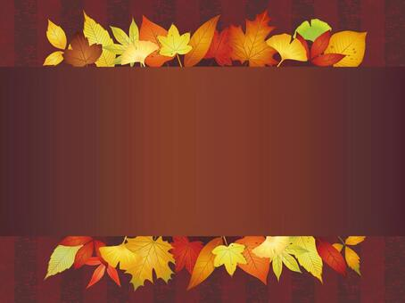 Various autumn leaves · Autumn leaves frame 02