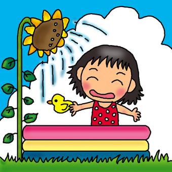 Sunflower shower ♪
