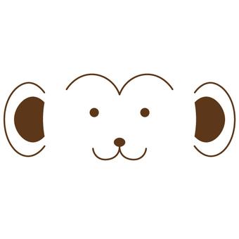 簡單的猴子臉圖