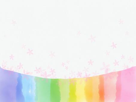 Rainbow color and flower background