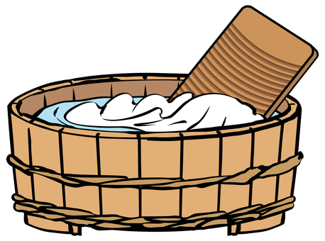 洗衣盆和木盆