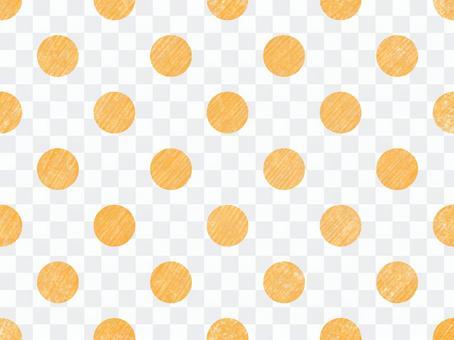 オレンジの水玉