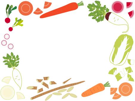 冬菜架 胡蘿蔔、紅蘿蔔、大白菜