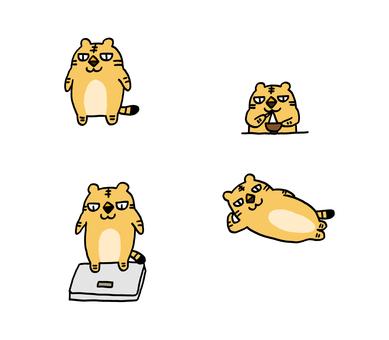 老虎有點胖