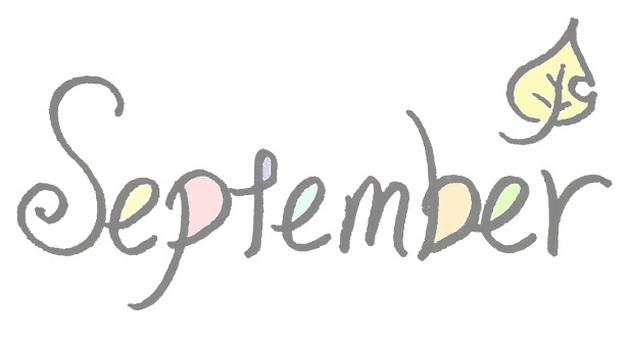 九月 九月 簡單英語 彩色