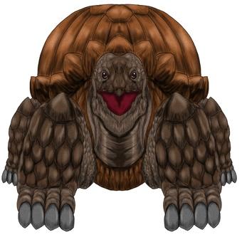 岩石般的大烏龜怪物