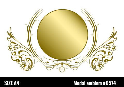 Medal emblem frame