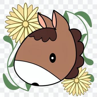 馬と菊のアイコン
