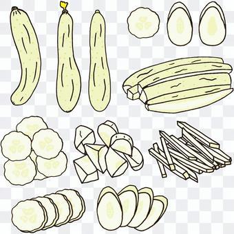 如何切白黃瓜