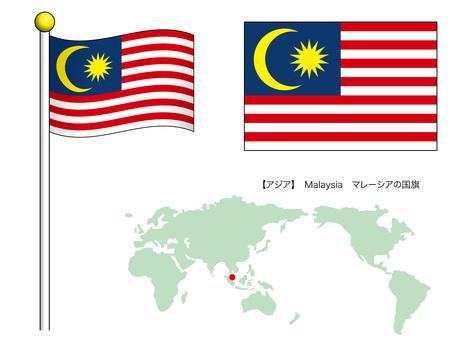 Flag vector 18_Malaysia_CS3