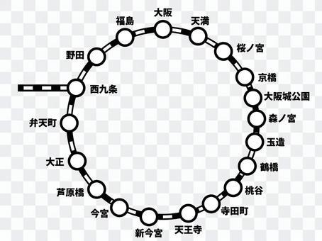 Osaka cyclic route map