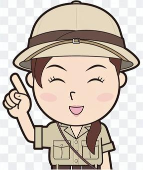 指法女探險家(微笑)