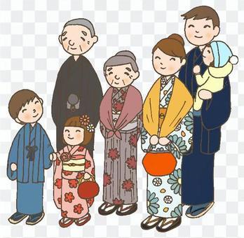 Hatsumōde和一個家庭