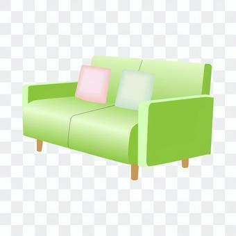 二人沙發(綠色)