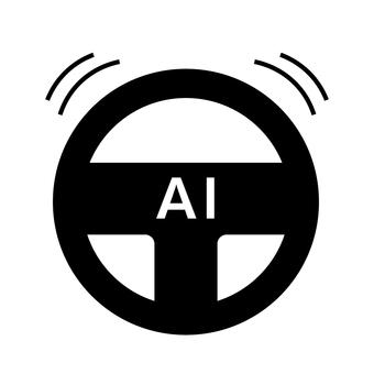 自動駕駛的圖像(汽車方向盤)