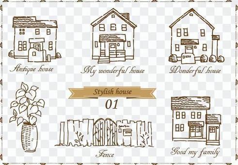 房子手繪粗糙