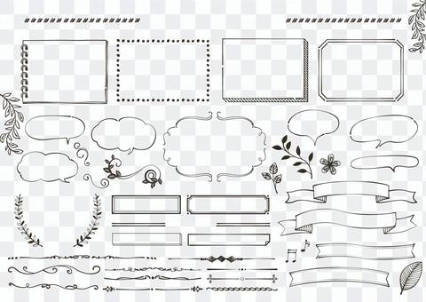 手寫材料 051 筆記和氣泡