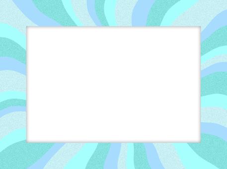 淡藍色徑向框架夏季藍綠波