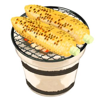 七輪烤玉米