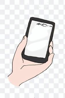 有一個智能手機