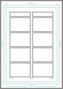 Manga original paper (for 4 frames)