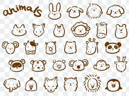 Loose animated hand-drawn set