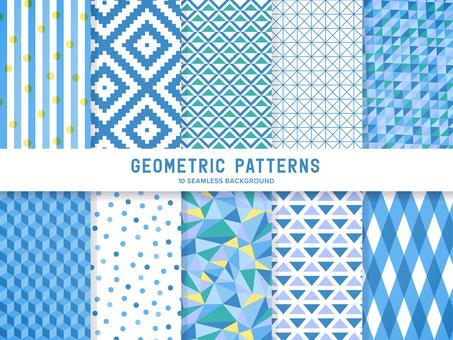 간단한 기하학적 패턴 (파랑)