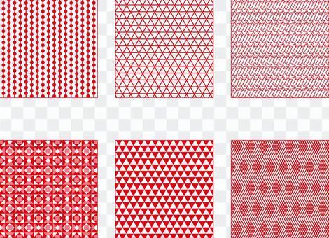 紅色簡單圖案2(透明背景)