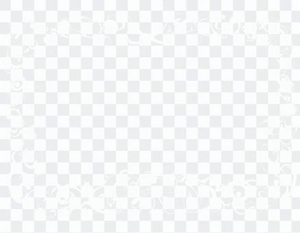 白色豪华华丽装饰框架