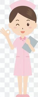 護士|護士服|白色外套|好的