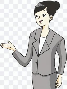 女職工指導(上半身)