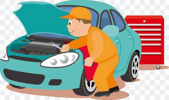 車 整備 修理 車検 整備士 メカニック