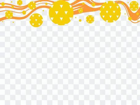 日本圖案框架_流線和比例圖案_T