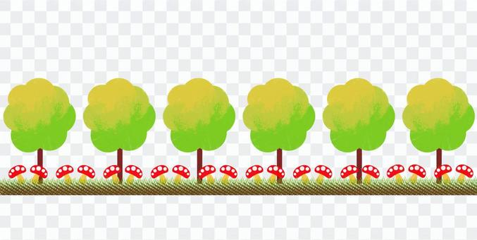 秋季葉子森林