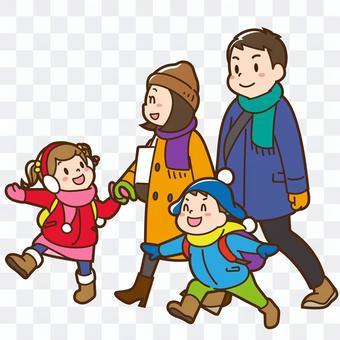 家人外出(冬季)