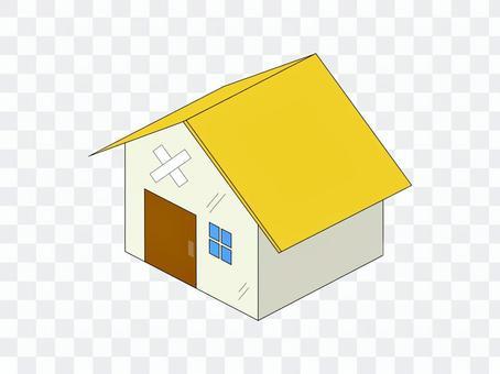 房子住宅使用的老年人黃色
