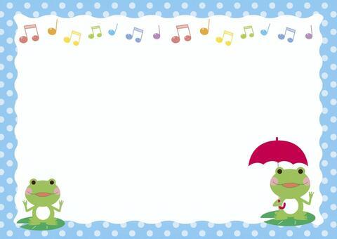 青蛙框架與傘