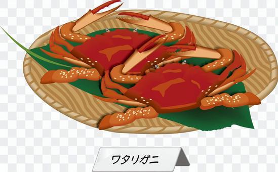 藍蟹蟹甲殼動物捕撈成分