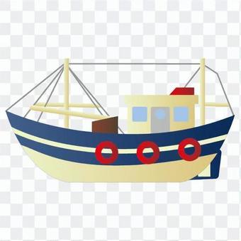 藍色船模型