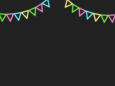 霓虹燈三角旗花環框A