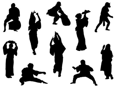 日本舞蹈 silhouette_set 2