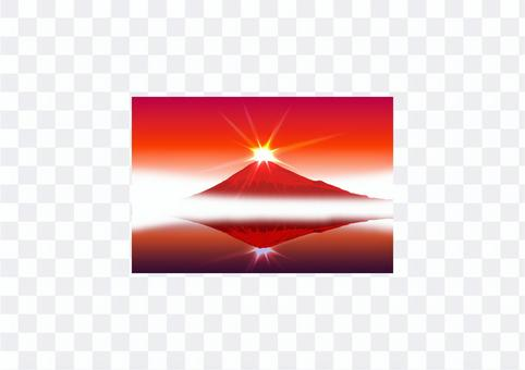 紅富士鑽石富士明信片尺寸