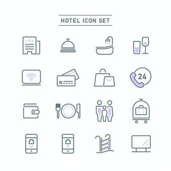 酒店圖標集